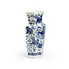 This item: Blue and White Ming Octagonal Vase