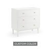 This item: White 32-Inch Wave Bedside Chest