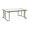 This item: Bronze and Antique Silver 48-Inch Benson Cocktail Table