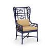 This item: Blue 47-Inch Gwyneth Wing Chair