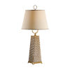 This item: Gold One-Light 11-Inch Dotted Pyramid Lamp