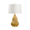 This item: Off White and Gold One-Light 6-Inch Oliver Lamp