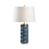 This item: Off White and Blue One-Light 6-Inch Mountain Pine Lamp