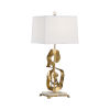 This item: White and Gold One-Light 9-Inch Ruffle Lamp