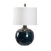 This item: Off White and Blue One-Light 16-Inch Dark Knight Lamp