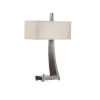 This item: White and Silver One-Light 10-Inch Jaeger Desk Lamp