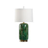 This item: Off White and Green One-Light 7-Inch Newport Lamp