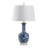 This item: Blue and White One-Light 6-Inch Belle Lamp