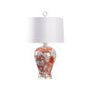 This item: Off White and Red One-Light 7-Inch Prosperity Lamp - Red
