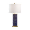 This item: Off White and Blue One-Light 8-Inch Yacht Club Blue Lamp