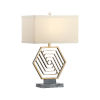 This item: Gold One-Light 9-Inch Hexacious Lamp