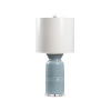 This item: Mist Blue and White One-Light Table Lamp