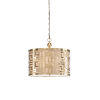 This item: Gold Three-Light 20-Inch Daphne Pendant