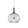 This item: Silver Three-Light 26-Inch Abella Pendant