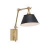 This item: Black and Brass One-Light 10-Inch Franklin Swing Arm