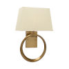 This item: Gold One-Light 12-Inch Ring Sconce