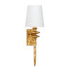 This item: Off White and Gold One-Light 4-Inch Saxon Sconce