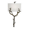 This item: Off White and Black One-Light 13-Inch Arbre Sconce