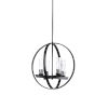 This item: Black Four-Light 20-Inch Dylan Chandelier