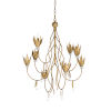 This item: White and Gold Eight-Light 30-Inch Phoebe Chandelier