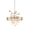 This item: White and Gold Eight-Light 36-Inch Whitfield Chandelier Ii
