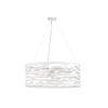 This item: White Five-Light 30-Inch Silent Surf Drum Pendant