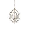 This item: Lisa Kahn Silver Four-Light Round Chandelier