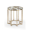 This item: Lisette Antique Gold Side table