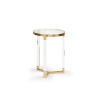 This item: Moravian Polished Brass 15-Inch Side Table
