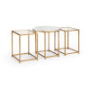 This item: Medallion Natural White and Antique Gold End Table