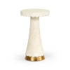 This item: Puttick Natural White with Gold Side table