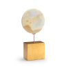 This item: Natural White and Antique Gold Large Marble Disk