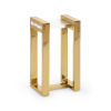 This item: Burge Polished Brass Side Table