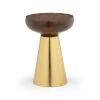 This item: Brown And Brass Mushroom Stool