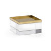 This item: White and Brass Square Crystal Stand