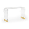 This item: Antique Brass Acrylic Waterfall Console Table