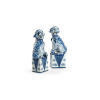 This item: Blue and White Palace Dogs Figurine