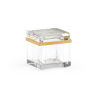 This item: Gold and Clear Crystal Jewel Box