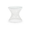 This item: White Rattan Side Table