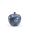This item: Clarke Blue and White Small Clarke Vase