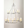 This item: Colonial Antique Silver 20-Light Colonial Chandelier