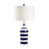 This item: Blue and White One-Light Beach Stripe Table Lamp
