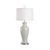 This item: Gray and Silver One-Light Table Lamp