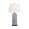 This item: Kansas Navy and White One-Light Table Lamp