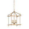 This item: Baton Antique Gold and Ivory Four-Light Pendant