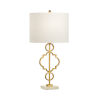 This item: Artistic Antique Gold and White One-Light Table Lamp