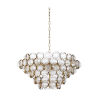 This item: Milan Antique Brass Eight-Light Chandelier
