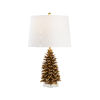 This item: Antique Gold One-Light Pinecone Table Lamp