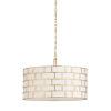This item: Masonry Antique Gold and Off White Three-Light Pendant