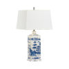 This item: Blue and White One-Light Square Lamp